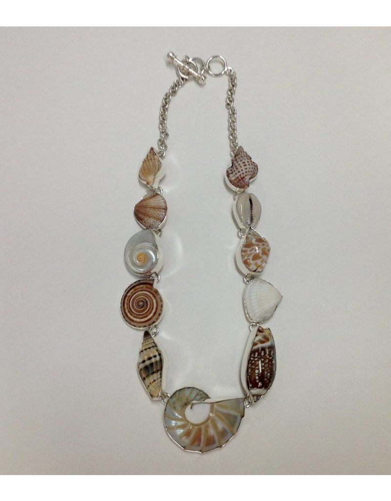 Multi Shell Necklace Sterling Silver
