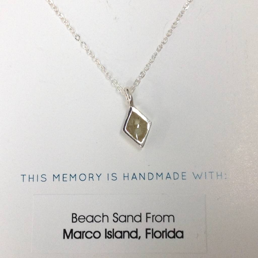 "Sand Jewel Necklace Diamond 16-20"""