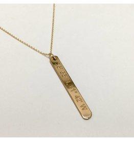 Lat Lo Vertical Bar Necklace GF