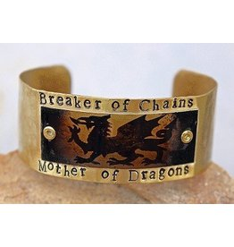 """Game of Thrones """"Breaker of Chains"""" Brass Cuff"""