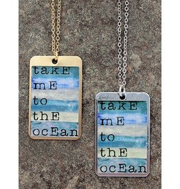 Take me to the Ocean Dog Tag Necklace