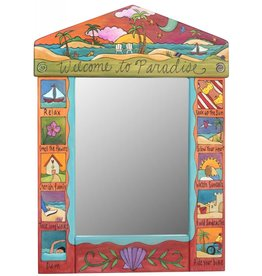 """Mirror Welcome to Paradise  (24""""x33)"""
