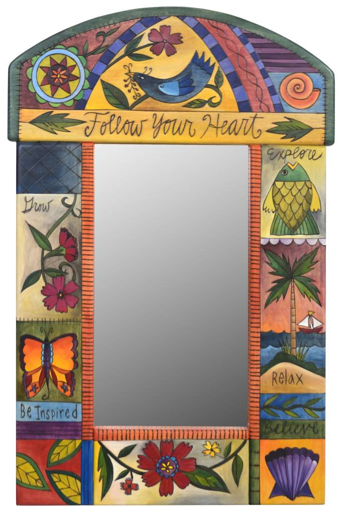 "Mirror Follow Your Heart w/ Rounded top (19""x29"")"
