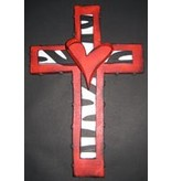 Cross Red/bl/wh 13x9""