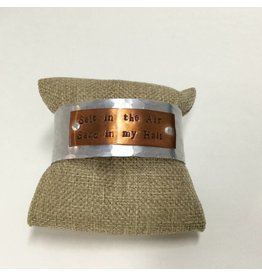 Salt in the Air Metal Cuff Aluminum