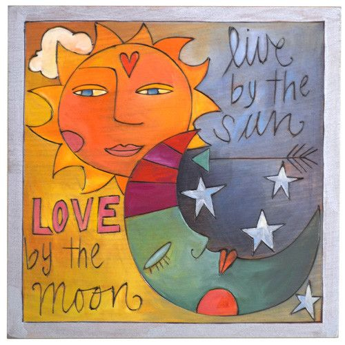 Love by the Moon Plaque 10x10