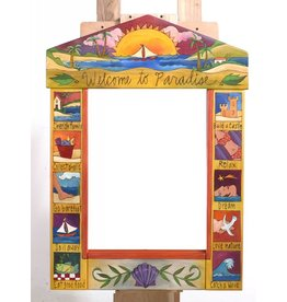 Mirror Welcome to Paradise (24x33) (Sun & Sailboat)