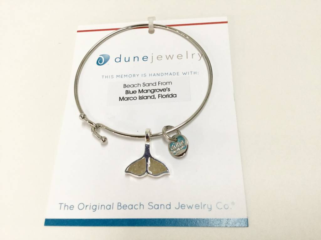 Marco Island Beach Bangle w/ Whales Tail