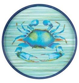 "Tray Blue Crab Round 18"""