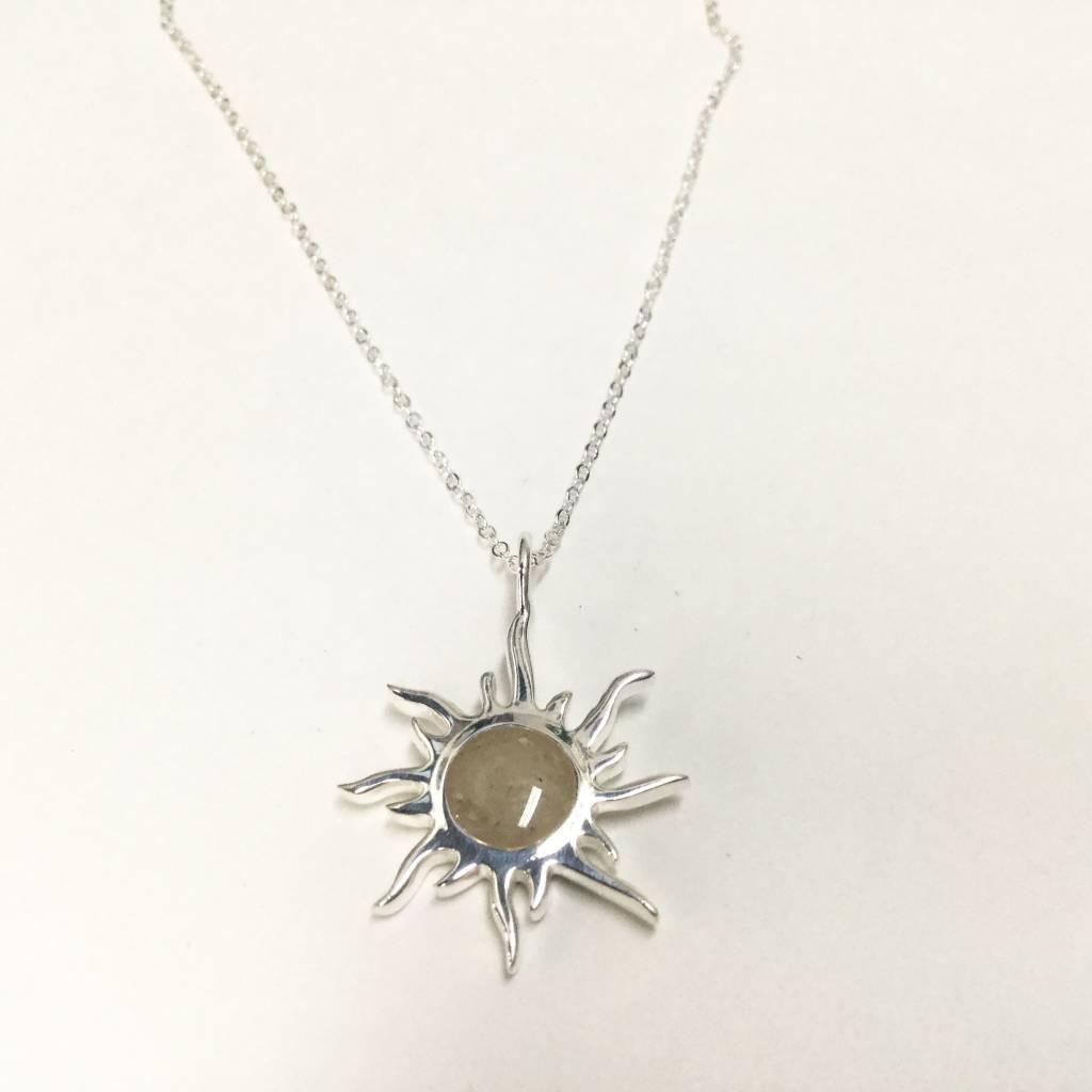 Sunburst Necklace w/ Marco Island Sand SS