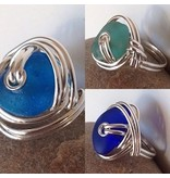 Seaglass Rings