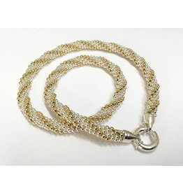 "Gold & Silver Twist 20"" Necklace"