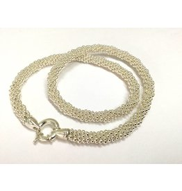 "Silver Rope 20"" Necklace"