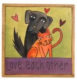"'Love each other' Art Plaque 7x7"""