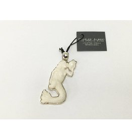 Bone Mermaid Sterling Silver Pendant