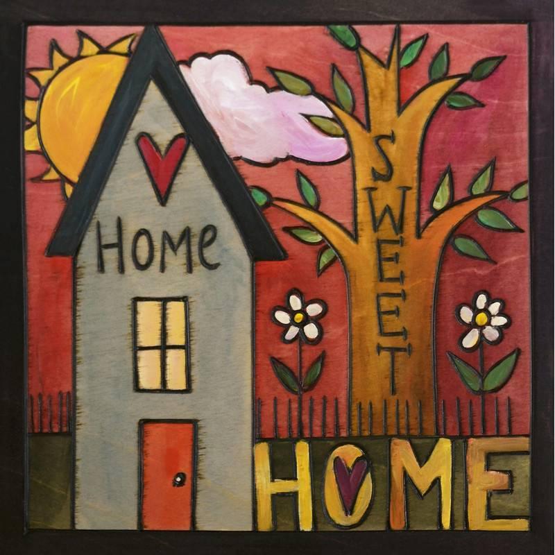 Sincerely Sticks 6x6 Plaque Everybody's Home  SS