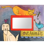 Sincerely Sticks 4x6 Frame Dogs & Cats & Birds Oh My  SS