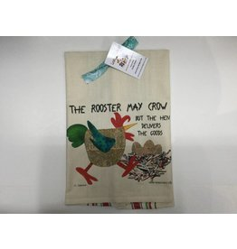 Lunar Designs Rooster Crow Towel