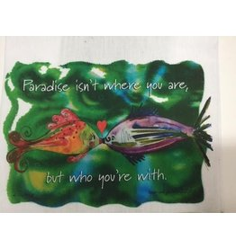 Lunar Designs Paradise Fish Towel