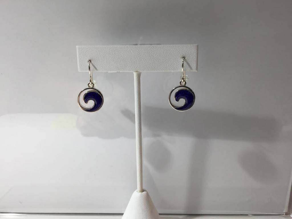Lapis Wave Earrings SS
