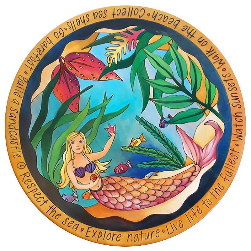 """Mermaid of the Sea"" Lazy Susan 20""D"