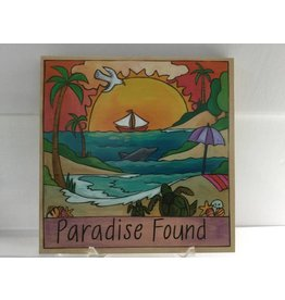 Sincerely Sticks 9x9 Plaque Paradise Found Marco Island SS (custom)