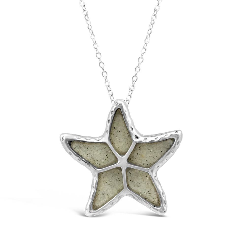 Marco Island Textured Starfish Necklace Adj