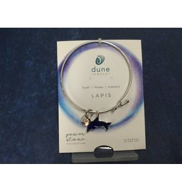 Lapis  Beach Bangle w/  Dolphin