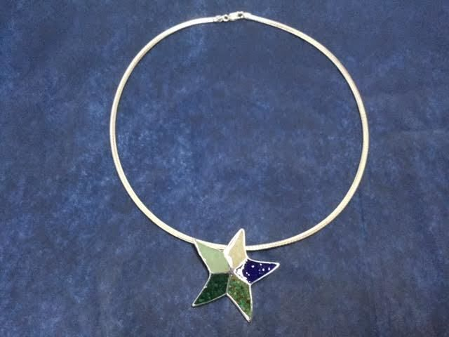 "B Sea Star Necklace w/ 5 Elements 18-20"" Custom"