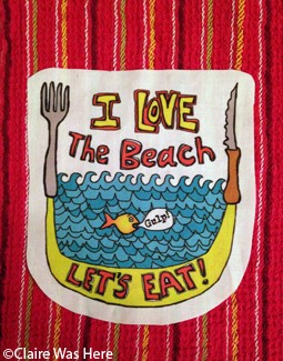 Claire was Here Beach Eat Towel T178