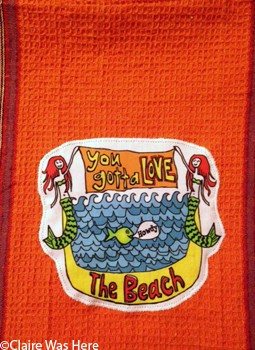 Claire was Here Mermaid Beach Towel T177