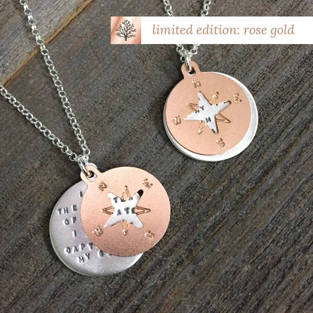 "Compass LTD Rose Gold Henley 18"" Necklace"
