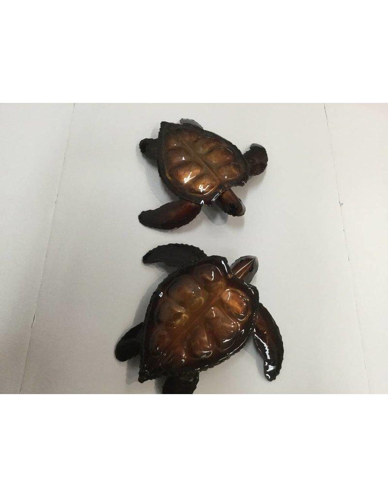 Copper Sea Turtle Sm 7X7 Clear Coat