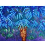 "Art Block - Blue Cabbage Palm 5x7"""