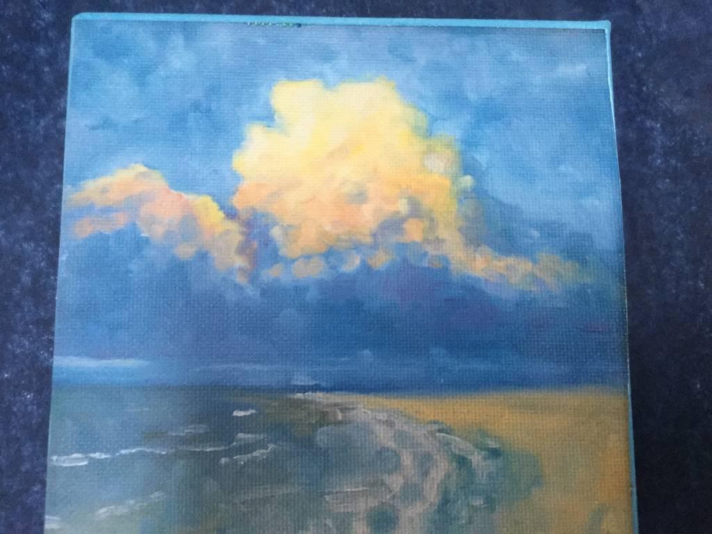 """Art Block - Sunset at Tigertail 6x6"""""""