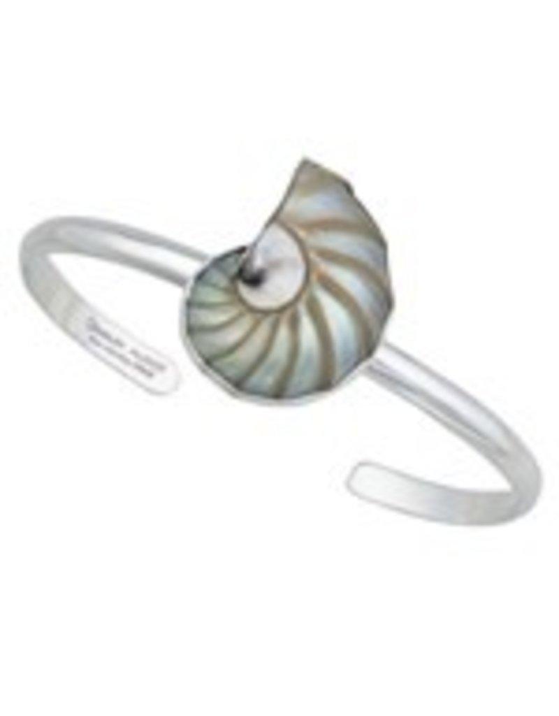 Nautilus Shell Mini Cuff Sterling Silver