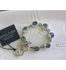 Blue Topaz Bracelet Sterling Silver