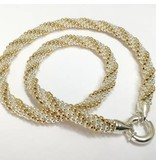 """Gold & Silver Twist 16"""" Necklace by Dovera"""