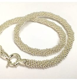 """Silver Rope 18"""" Necklace by Dovera"""