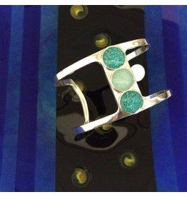 Deco Sandglobe Bracelet w/ Turquoise, Amazonite & Turquoise