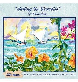 Eileen Seitz Puzzle By Eileen Seitz Sailing in Paradise (550 pc)