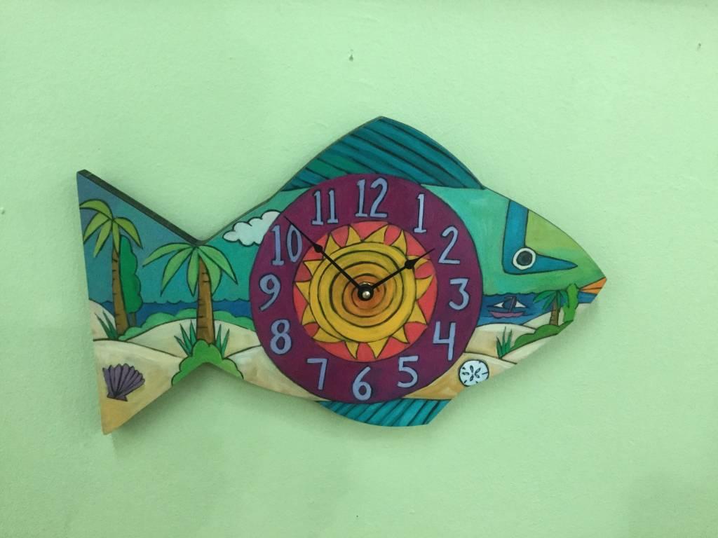 Sincerely Sticks Clock Beach Time SS
