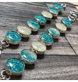 Gradient Turquoise Travelers Bracelet w/ Marco Island Sand