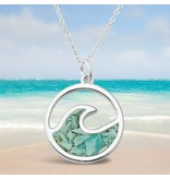 Turquiose Wave Necklace SS
