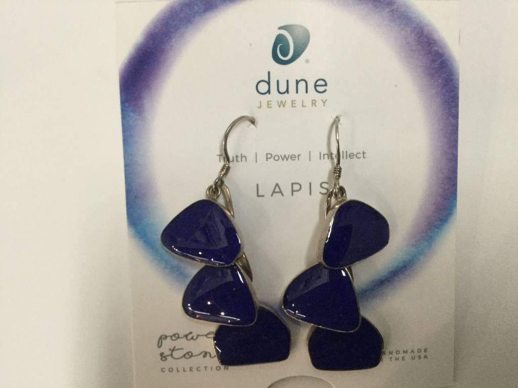 Lapis Triple Drop Earrings