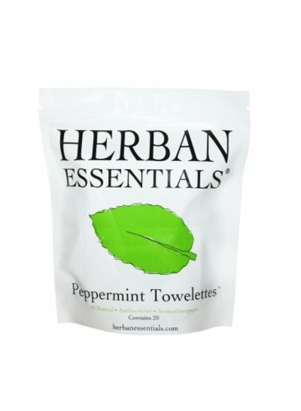 Herban Essentials Herban Essentials Wipes-Peppermint, Contains 20