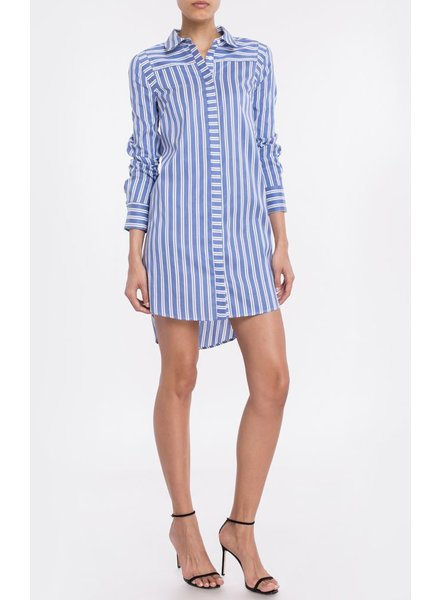 Milly Long Sleeve Shirt Dress