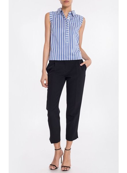 Milly Collared Pleat-Back Shirt
