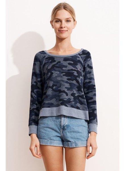 Sundry Camo Crop Pullover