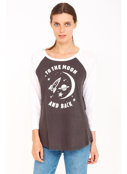 Sundry To The Moon Baseball Tee